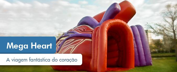 Exposição Mega Heart, até o dia 21 no Brasília Shopping